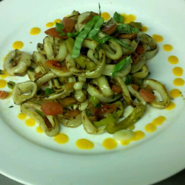 Pan Roasted Calamari With Chop Cherry Peppers Scallions Olive Oil And Garlic @ La Catena