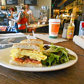 Commuter Breakfast Sandwich - M Street Kitchen, Santa Monica, CA