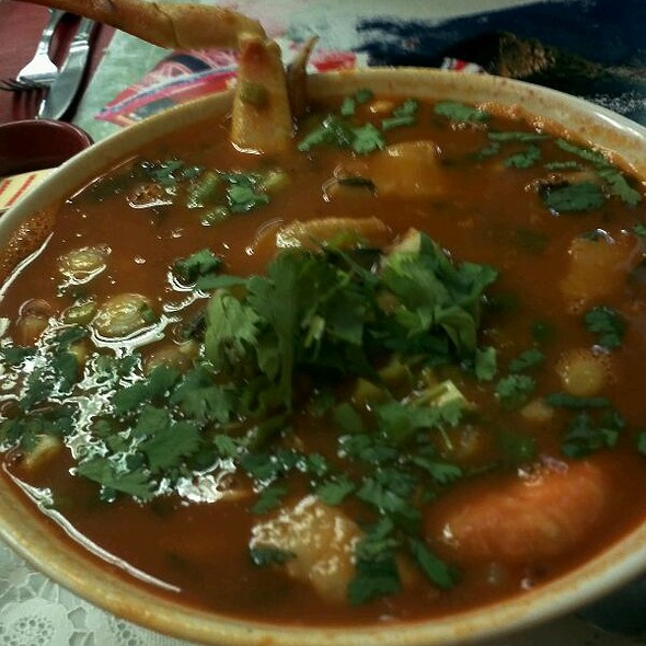 Parihuela (Peruvian Seafood Tomato Stew) @ Natalie Peruvian Seafood Restaurant