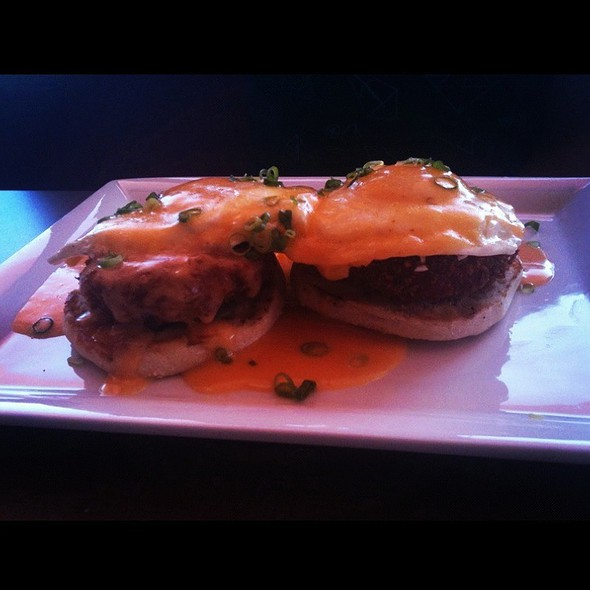 Fried Green Tomatoes Benedict @ The Monterey