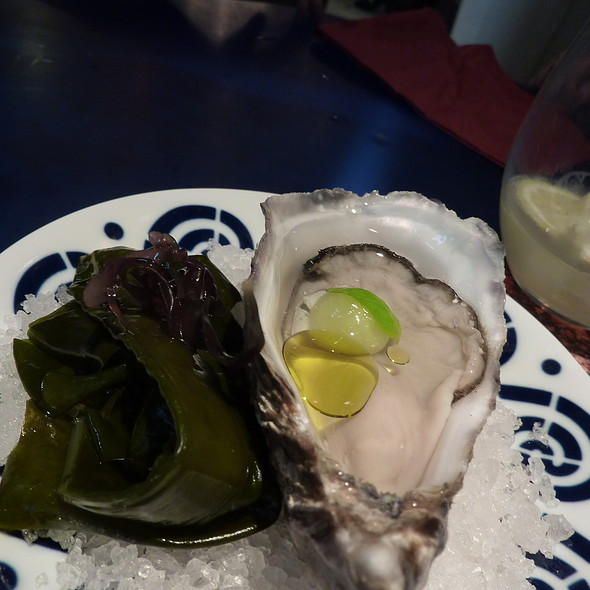 Oyster with Transparent Gazpacho Consome @ Tickets