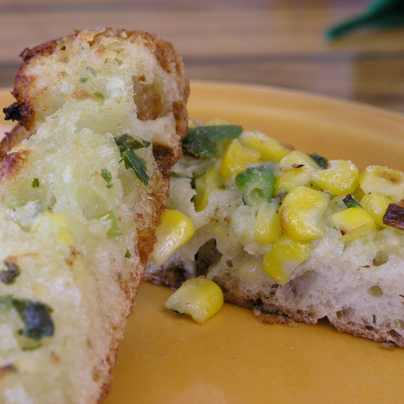 Bread with Creamy Corn Topping @ Bahama Billy's Island Steakhouse