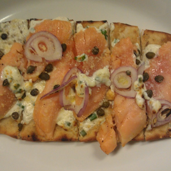 Smoked Salmon Flatbread @ Wild Orchid Cafe