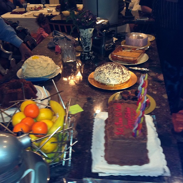 Birthday Spread Featuring Seven Layer Chocolate  @ Mimi's On Hughes