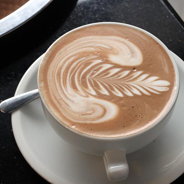 Latte @ Press Coffee Food Wine
