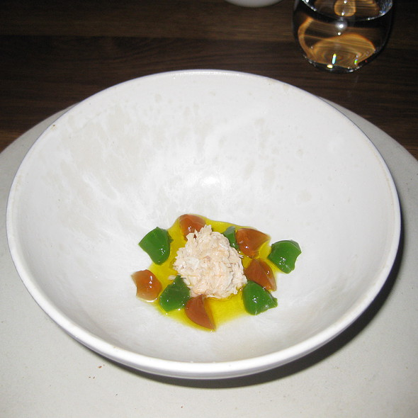 Stone Crab and sea weed beach mustard @ Noma