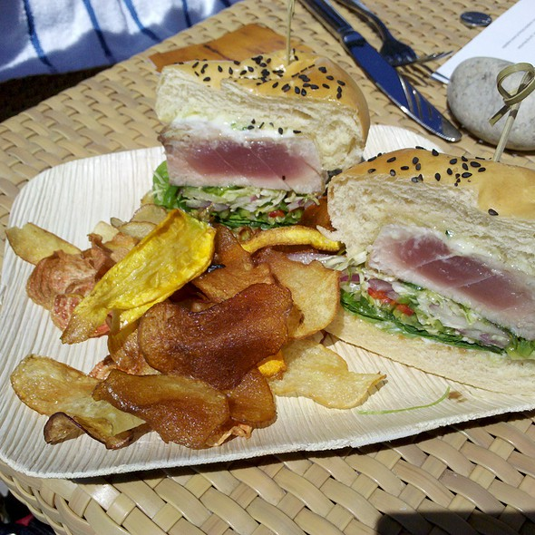 Big Eye tuna sandwhich @ Lucy Restaurant & Bar at Bardessono Hotel