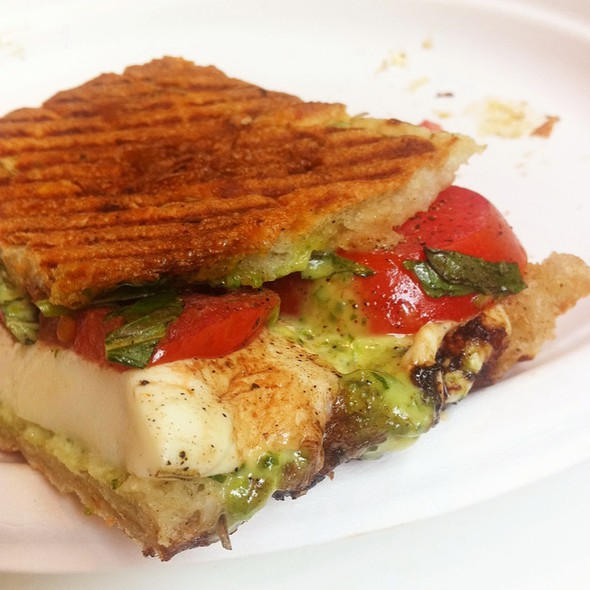 Mozzarella And Tomato Sandwich @ Dishes