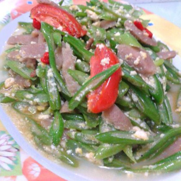 Long beans with tofu scrambled @ Home