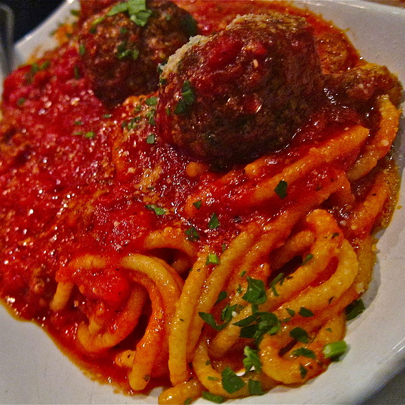 Housemade fresh spaghetti & housemade meatballs @ Tony's Pizza Napoletana