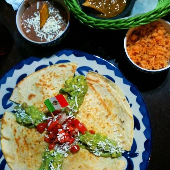 Quesadilla Con Huatlicoche Plate @ Cacao Mexicatessen