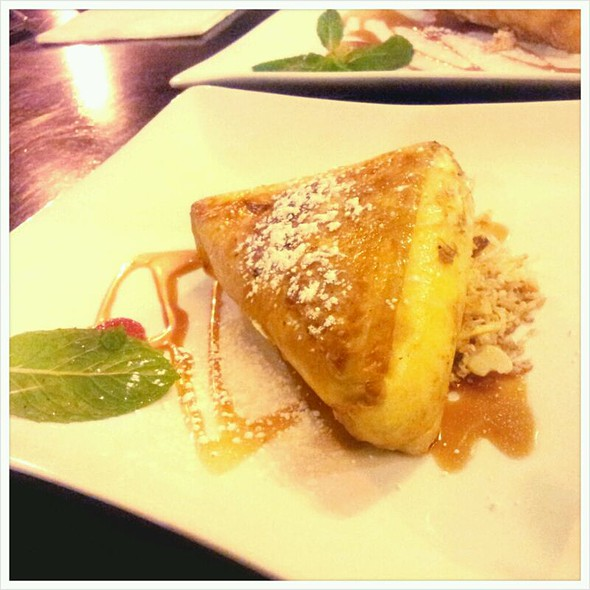 Deep Fried Ice Cream Encassed In Filo Pastry With Caramel Sauce And Coconut Praline @ Holy Basil