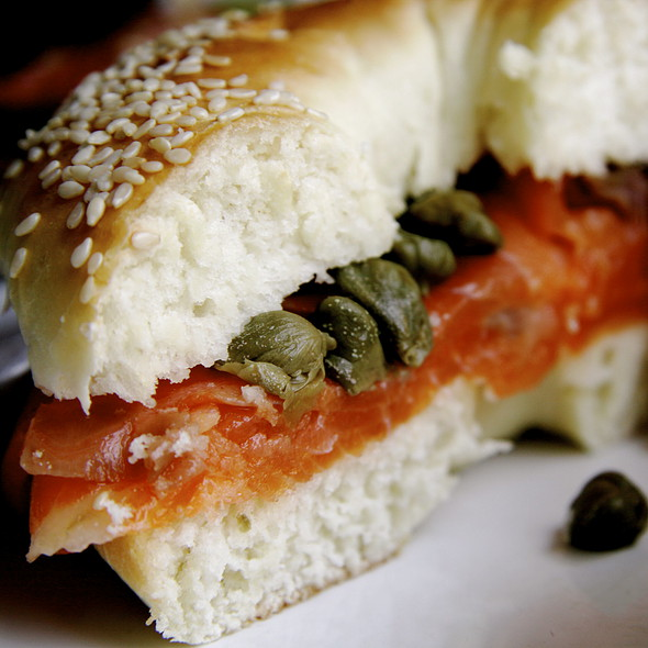 Bagel And Smoked Salmon @ La Crespo