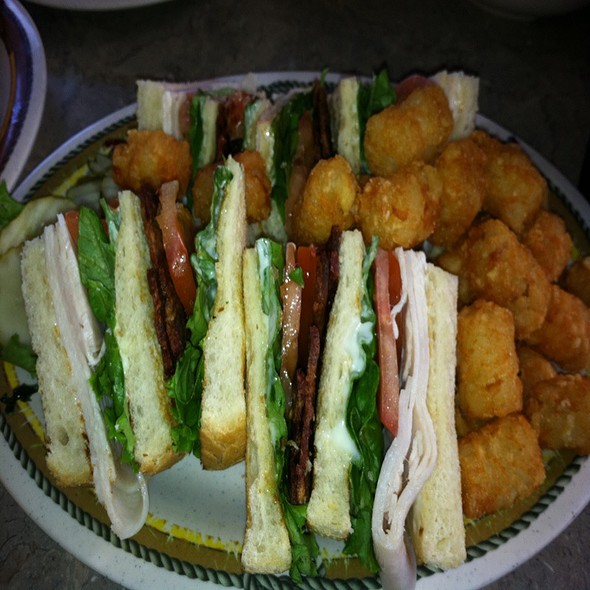 Club Sandwich W/ Crispy Bacon @ Ranch Hand Trail Stop
