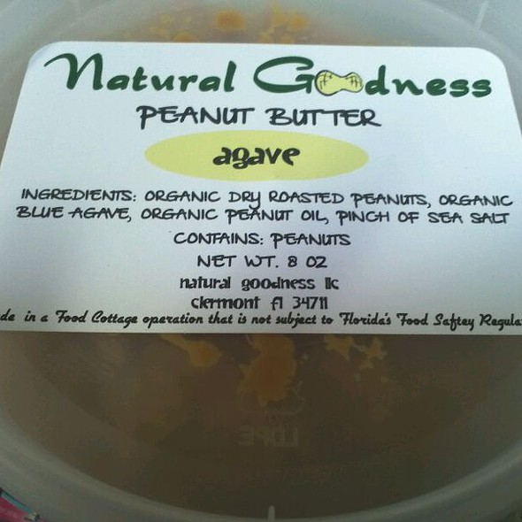 Agave Natural Peanut Butter @ Natural Goodness LLC