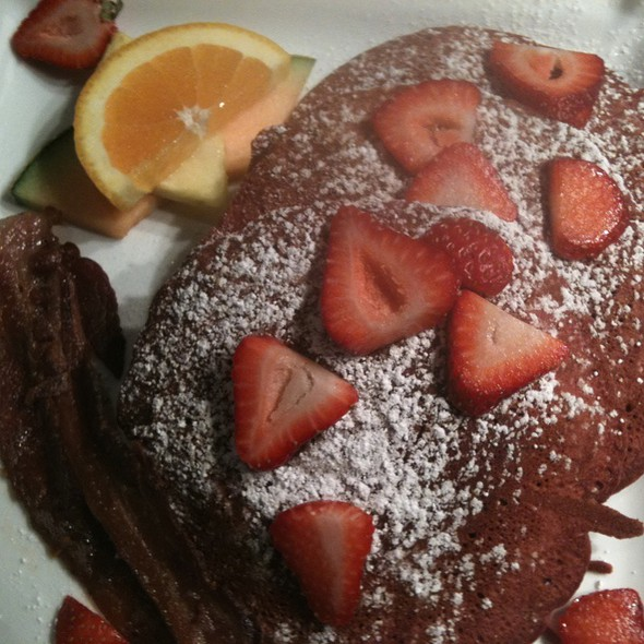Strawberry Red Velvet Pancakes