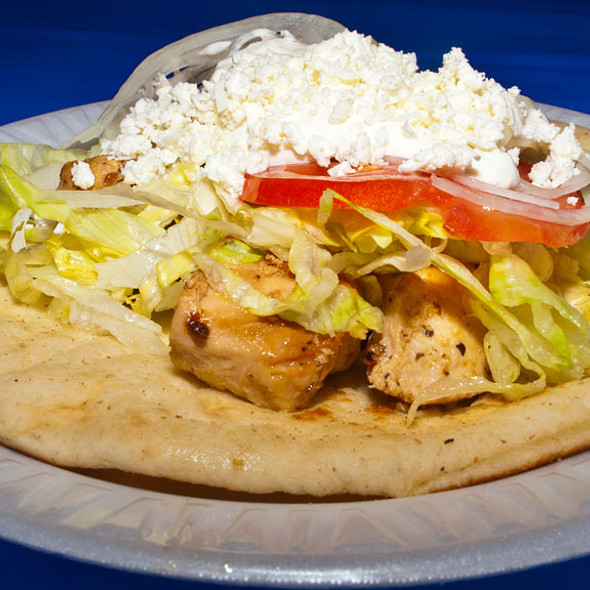 Chicken Souvlaki Sandwich @ Saint Katherine Greek Orthodox Church Greek Festival
