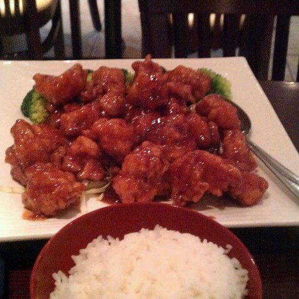 General Tso Chicken And White Rice.