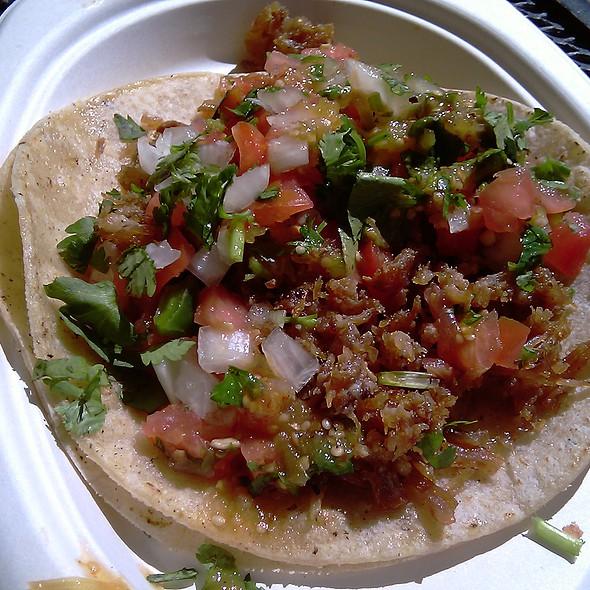 Taco De Chicharron @ La Palma Mexicatessen