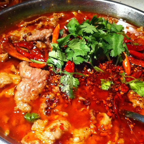 Braised Beef in Chili Broth @ Mapo Szechuan