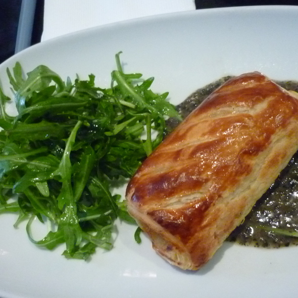 Quail in Puff Pastry Shell with Foie Gras and Truffle Sauce. @ Birdman Eating