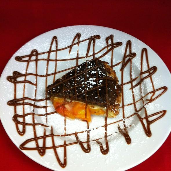 Peach-Upside-Down Pie w/Pecan & Brown Sugar Crust @ Bones Grille