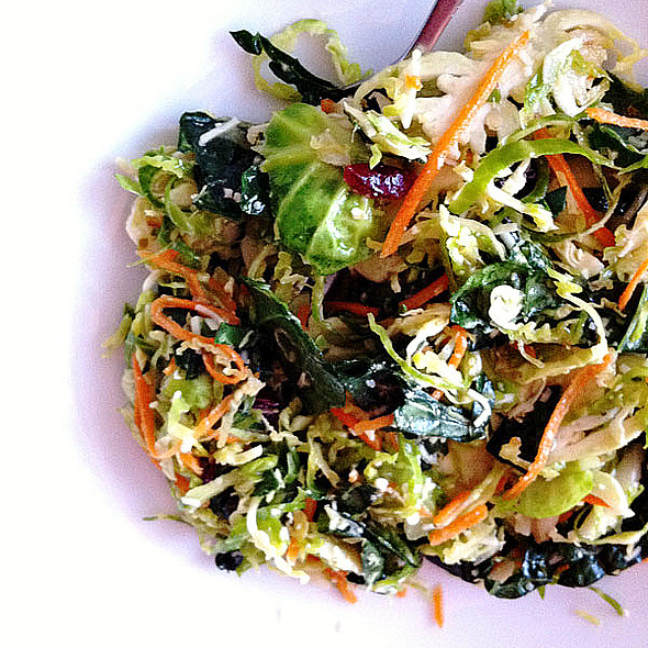Shaved Brussel Sprouts, Kale, and Carrot Salad @ Whole Foods Market - Scottsdale