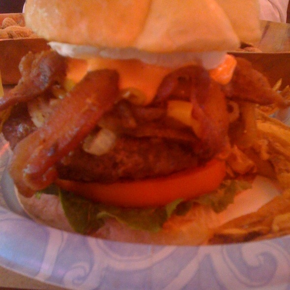 Bacon Cheeseburger w/ Red Pepper & Goat Cheese @ Terry's Turf Club