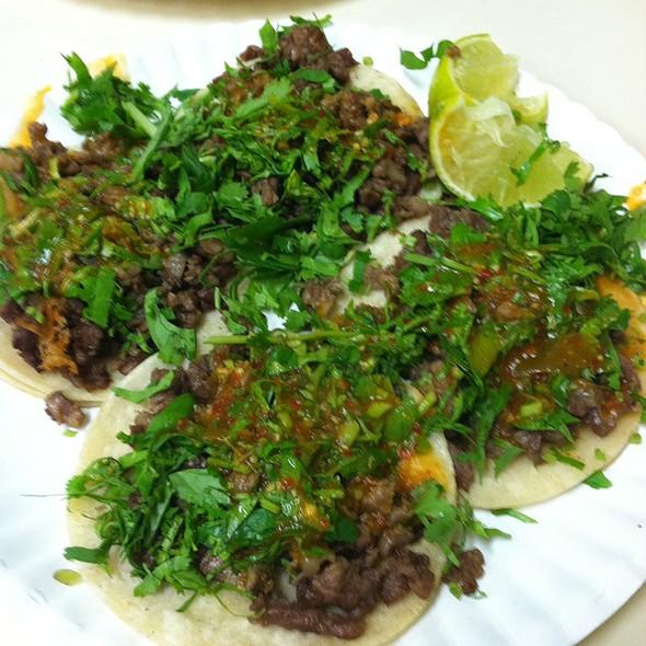 Carne Asada Tacos @ Taqueria Mexico