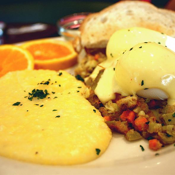 Eggs, Polenta & Artichoke Hash - Caffe Delucchi, San Francisco, CA