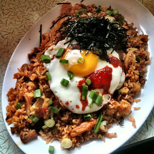 Kimchi Fried Rice with Egg @ HRD Coffee Shop