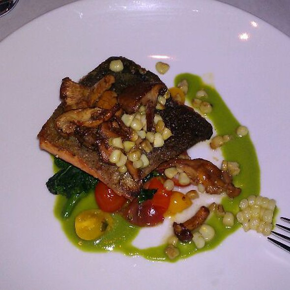 Salmon with Rapini @ The Gage