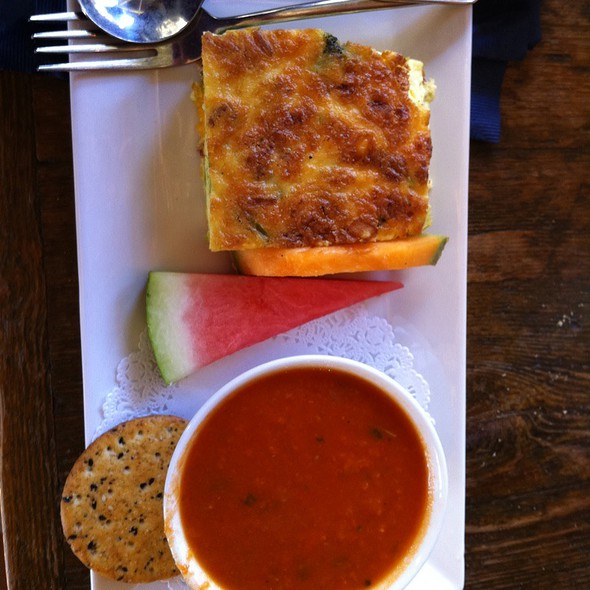 Asparagus Fritatta With Tomato Soup @ A Taste of Britain