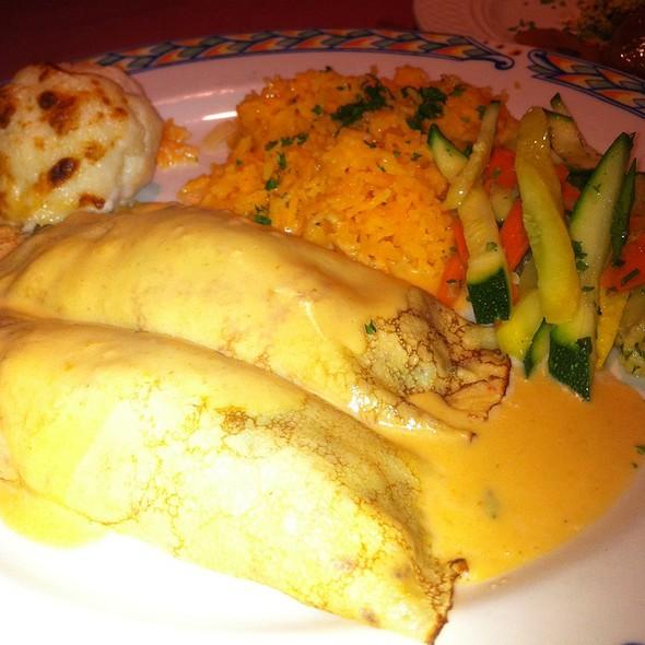 Lobster Crepes And Saffron Rice - Café Des Beaux-Arts, Palm Desert, CA