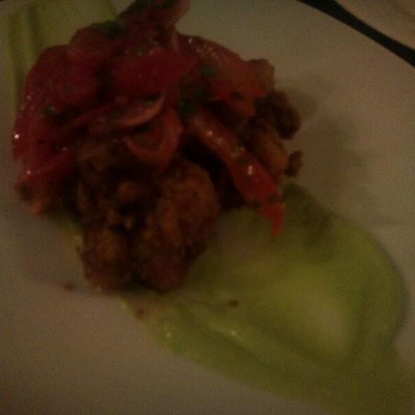 Veal Sweetbreads, Avocado Puree, Smoked Tomato, Pickled Radish @ Morso
