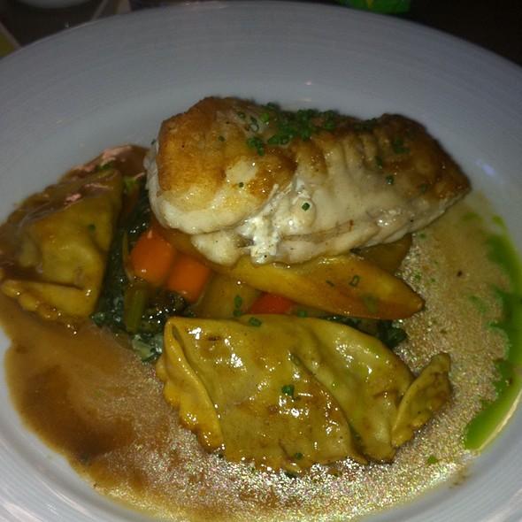 Monkfish With Lamb Ravioli @ Island Creek Oyster Bar