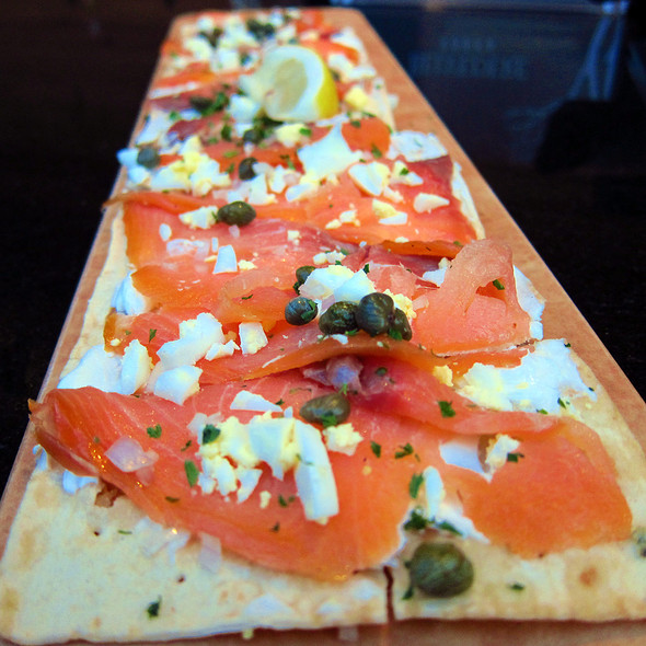 Lox Flatbread at III Forks Chicago