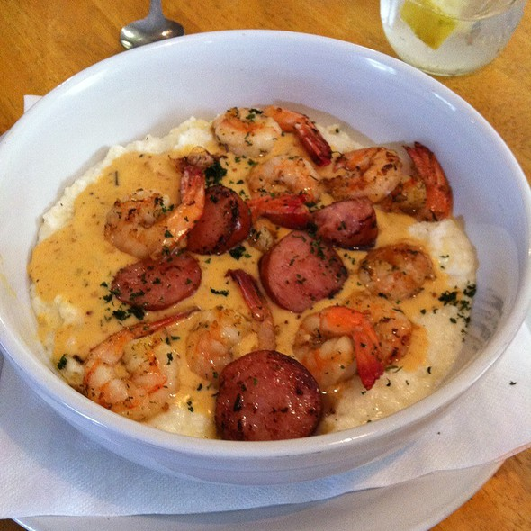 Low Country Shrimp And Grits @ A Lowcountry Backyard Restuarant