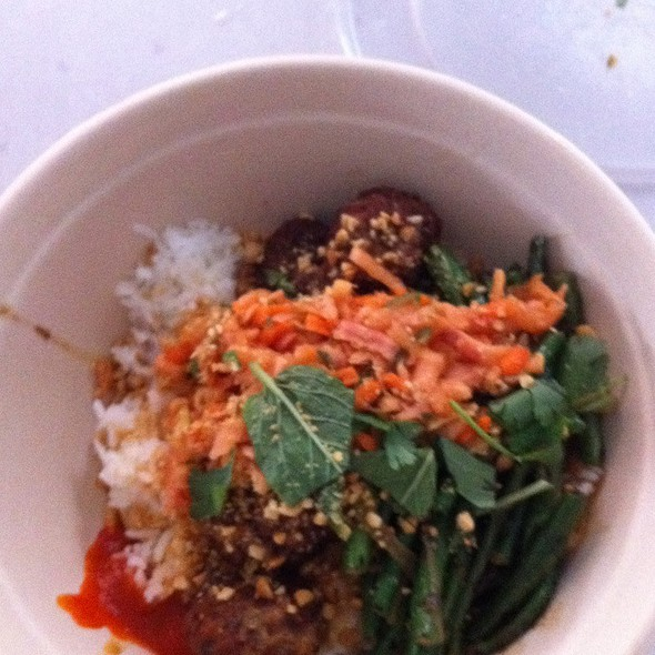 Chicken And Pork Meatballs Bowl @ Shophouse Kitchen