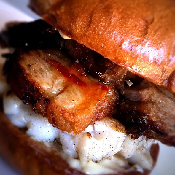 Pork Belly Scallop Burger @ Umami Burger Union