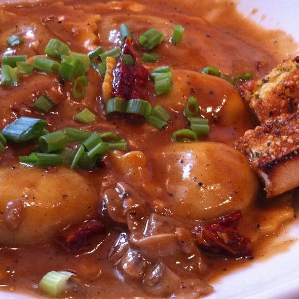 Beef Ravioli W/Garlic Toast @ Saltgrass Inc