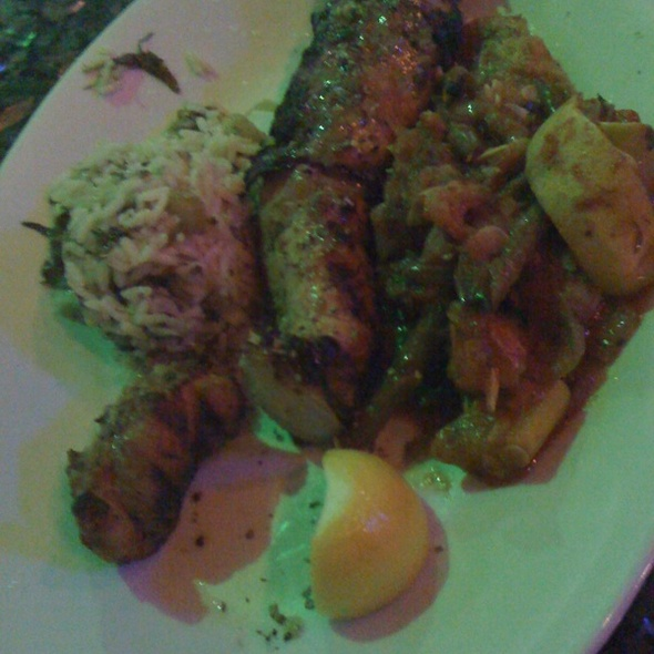 Chicken Filet Kebob - Taverna Kyma, Boca Raton, FL