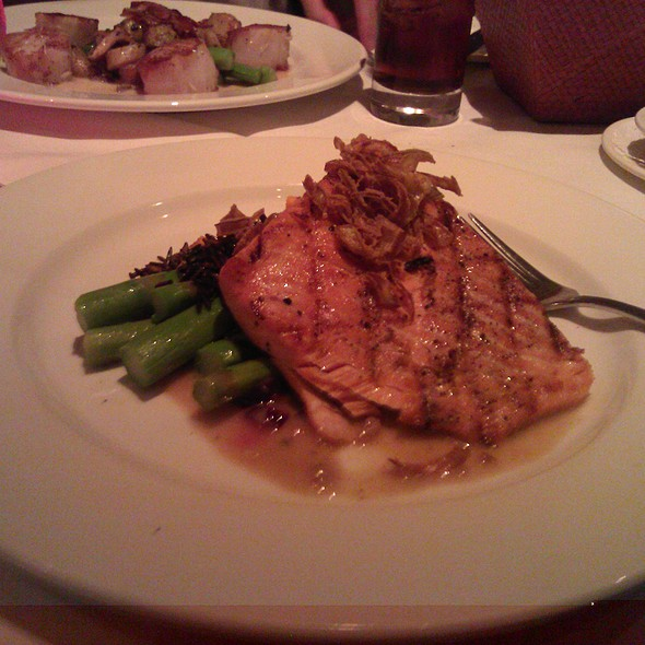 Salmon special with wild rice @ Bis On Main