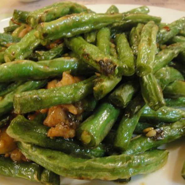 dry-fried green beans at Sunflower Cafe