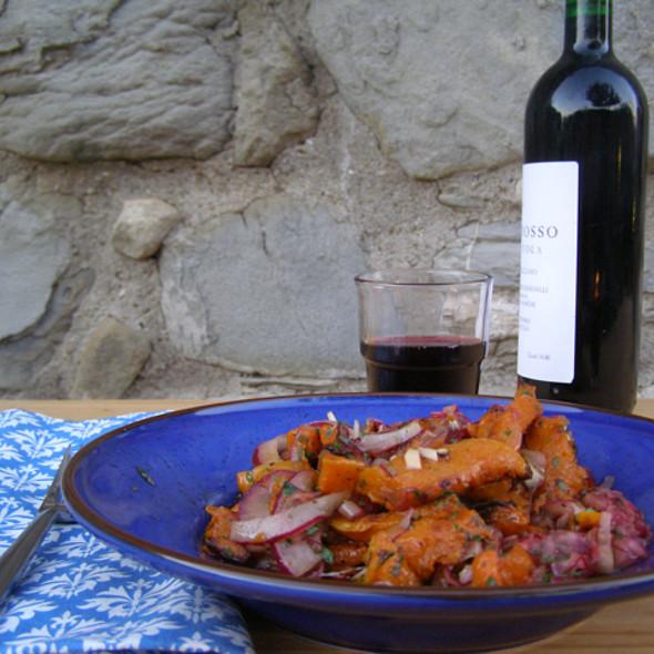 Roasted Squash with Onion, Oregano & Mint  @ La Tavola Marche Agriturismo Ca'Camone
