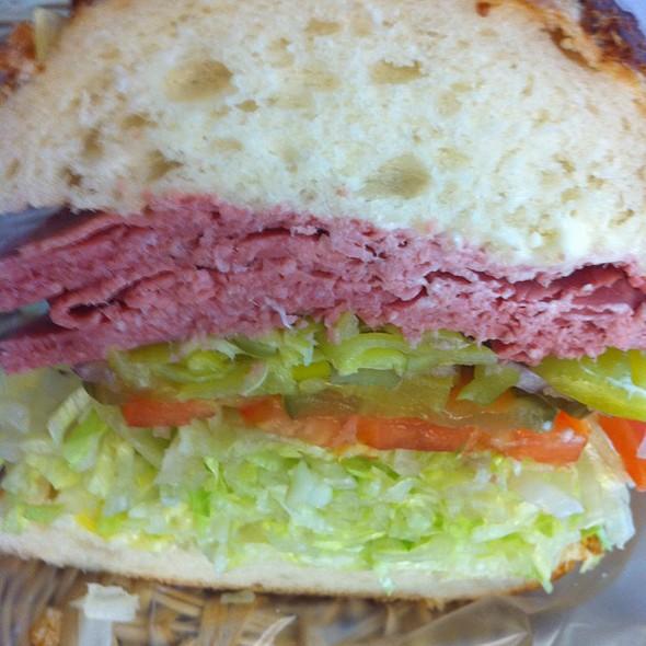 Corned Beef Sandwich @ Luccas Italian Delicatessen