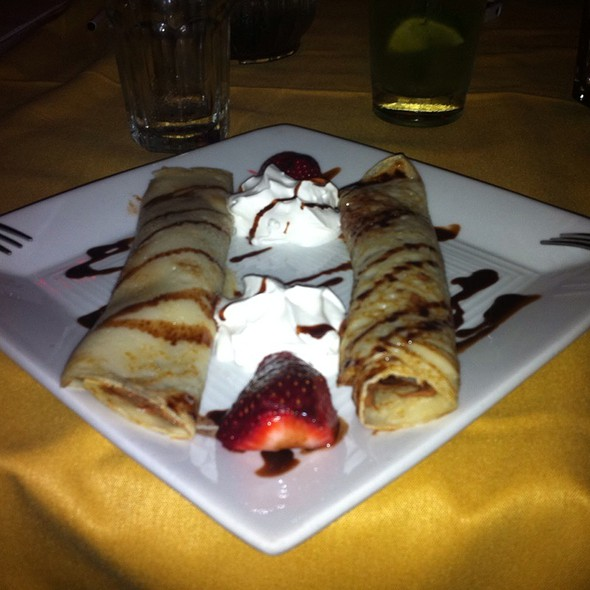 Strawberry Crepes - Sarajevo Restaurant & Lounge, Seattle, WA
