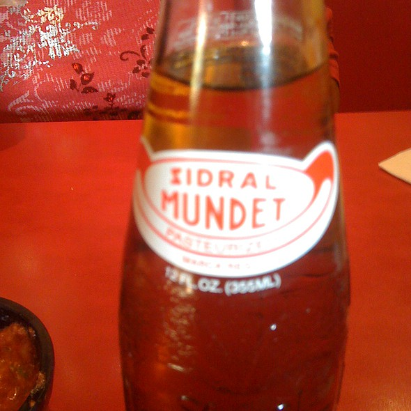 Mexican Zidral Mundet Soda @ Jalisco Mexican Restaurant