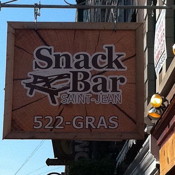 Outdoor Sign @ Snack Bar St-Jean