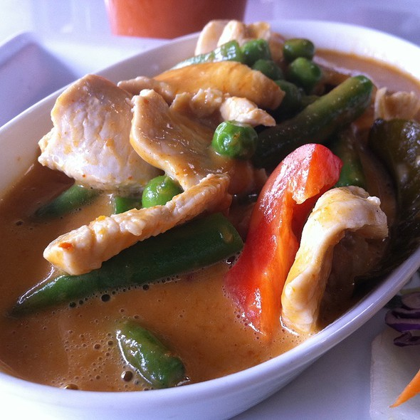 Panang Curry Chicken - Thaiphoon Restaurant, Palo Alto, CA